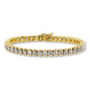 Jewelry - 8.5 Carats round diamond women tennis bracelet yel
